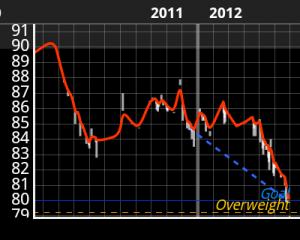 Graf od mého hubnutí 2011 - 2012