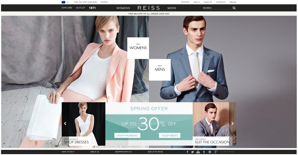 Eshop Reiss.com - podle mého top mezi módními eshopy