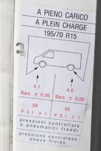 Správná tabulka tlaku v pneumatikách